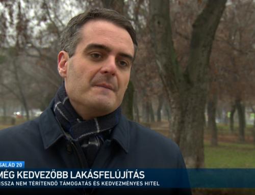 A kedvezményes lakásfelújítási hitelről beszélt az M1 műsorában Pásztor Szabolcs