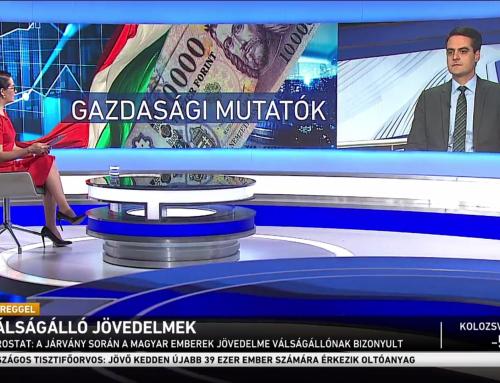 A hazai keresetek válságállóságáról beszélt Pásztor Szabolcs az M1 Ma Reggel adásában