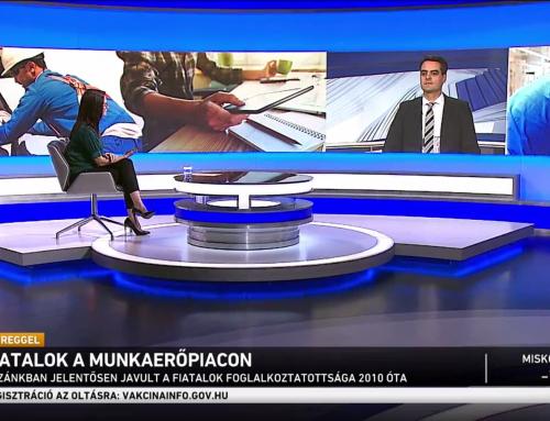 A fiatalok foglalkoztatottságáról beszélt Pásztor Szabolcs az M1 Ma Reggel január 31-ei műsorában