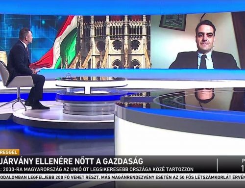 A gazdaság koronavírus utáni talpra állásáról beszélt Pásztor Szabolcs az M1 Ma Reggel című műsorában, 2021. május 22-én.