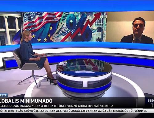A globális minimumadóról beszélt Pásztor Szabolcs az M1 Ma este 2021. június 4-ei adásában.