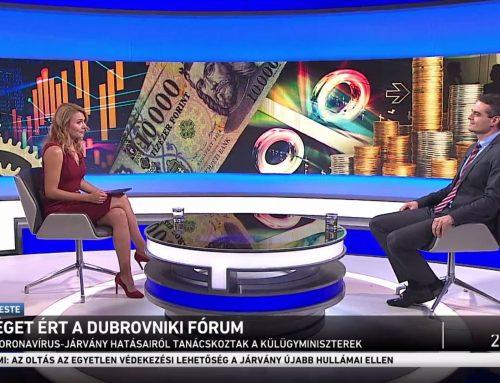 A járvány után gazdasági helyreállításról beszélt Pásztor Szabolcs az M1 Ma Este műsorában 2021. július 10-én.