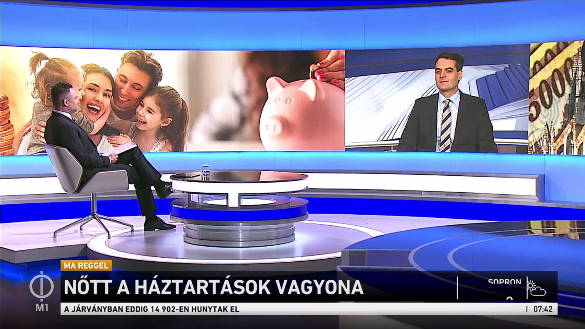 A családi megtakarítások alakulásáról beszélt Pásztor Szabolcs az M1 Ma Reggel 2021. február 28-ai adásában.