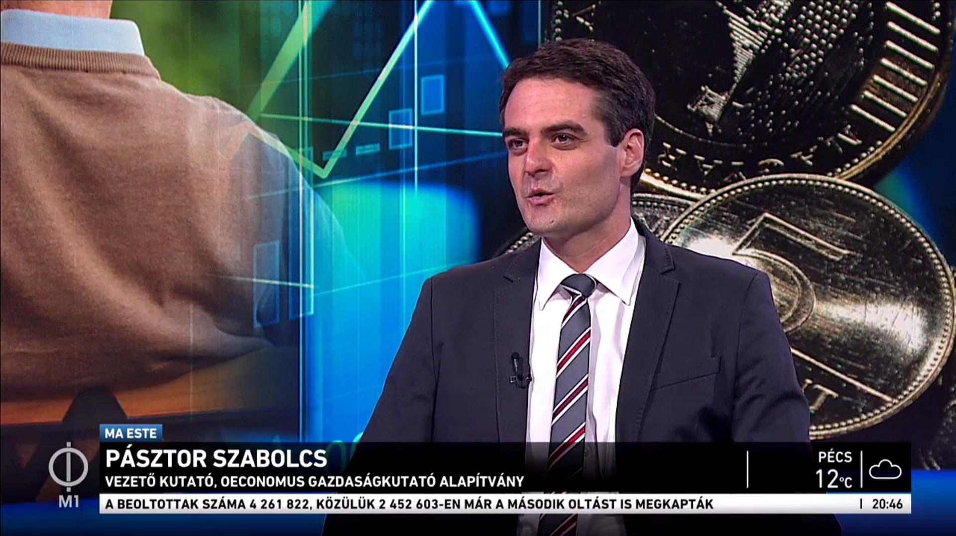 Az újraindítás költségvetéséről beszélt Pásztor Szabolcs az M1 Ma Este híradójában 2021. május 10-én