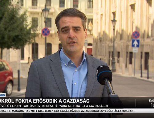 A gazdasági helyreállásáról beszélt Pásztor Szabolcs az M1 Híradó 2021. augusztus 6-ai adásában.