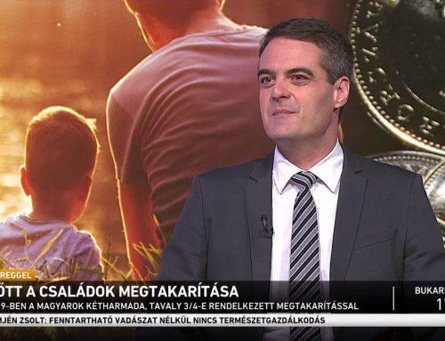 A családok megtakarításainak alakulásáról beszélt Pásztor Szabolcs az M1 Ma Reggel 2021. augusztus 29-ei műsorában.