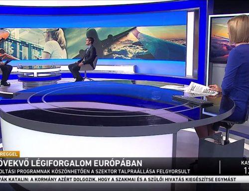 A növekvő európai légiforgalomról beszélt Pásztor Szabolcs az M1 Ma Reggel 2021. szeptember 19-ei adásában
