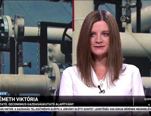 A megnövekedett energiaárak okairól beszélt Németh Viktória az M1 Ma Este című műsorában 2021. október 8-án.