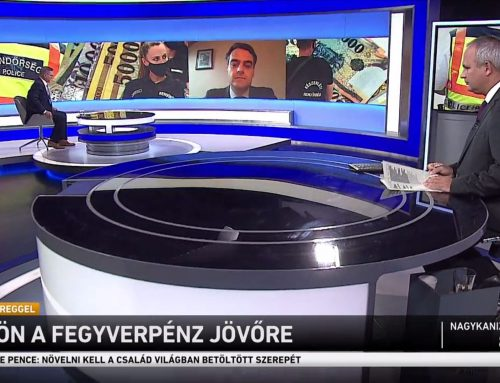 """A """"fegyverpénzről"""" beszélt Pásztor Szabolcs az M1 Ma Reggel 2021. szeptember 24-ei adásában."""